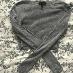 Ribbed Topshop cropped sweater